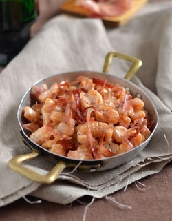 Gnocchi di zucca con fonduta di parmigiano e speck
